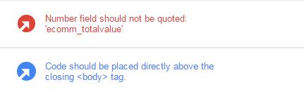 Tag Assistant errors